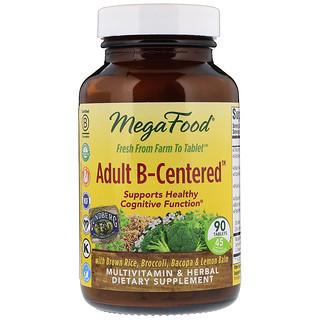 MegaFood, Adult B-Centered, 90 Tablets