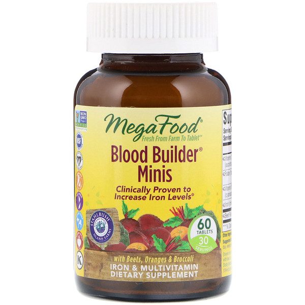 MegaFood, Blood Builder Minis,60片