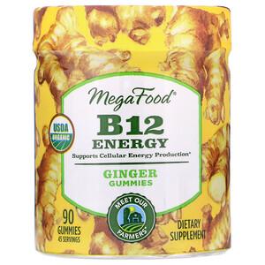 Мегафудс, B12 Energy, Ginger, 90 Gummies отзывы