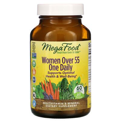 Купить MegaFood мультивитамины для женщин старше 55лет, 60таблеток