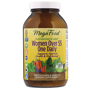 MegaFood, Women Over 55 One Daily, 120 Tablets