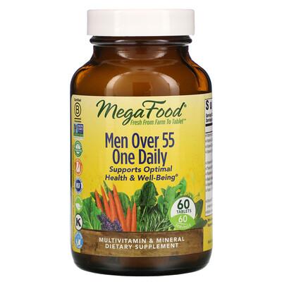 Купить MegaFood мультивитамины для мужчин старше 55лет, 60таблеток