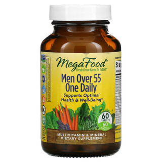 MegaFood, One Daily, добавка для мужчин старше 55лет, 60таблеток