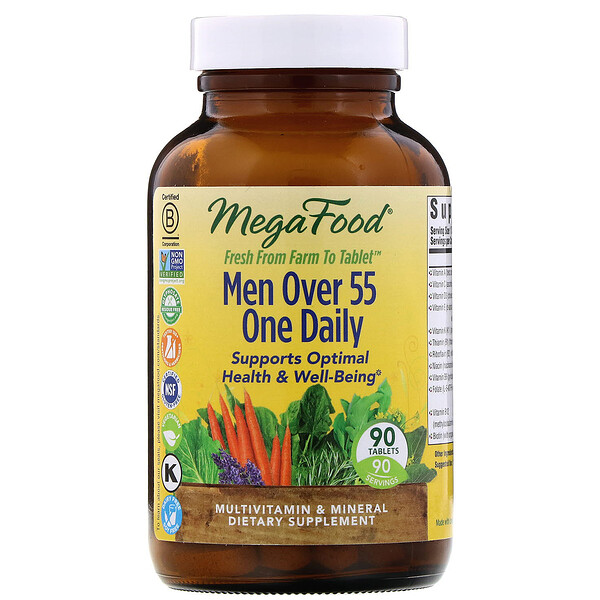 MegaFood, Men Over 55 One Daily, 90 Tablets