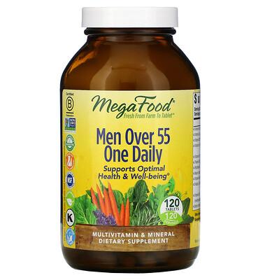 Купить MegaFood мультивитамины для мужчин старше 55лет, для приема один раз в день, 120таблеток