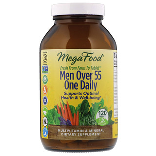 MegaFood, Men Over 55 One Daily, 120 Tablets