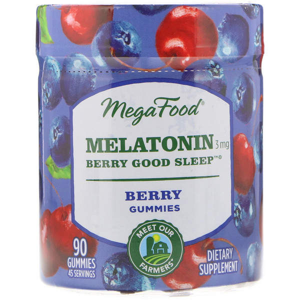Melatonin, Berry Good Sleep, Berry, 3 mg , 90 Gummies