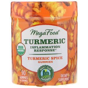 Мегафудс, Turmeric, Inflammation Response, Turmeric Spice, 90 Gummies отзывы покупателей