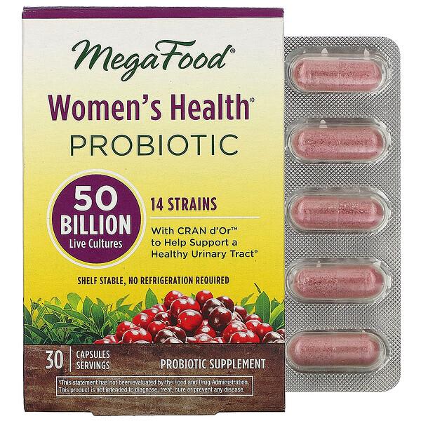 MegaFood, Women's Health Probiotic, 50 Billion Live Cultures, 30 Capsules