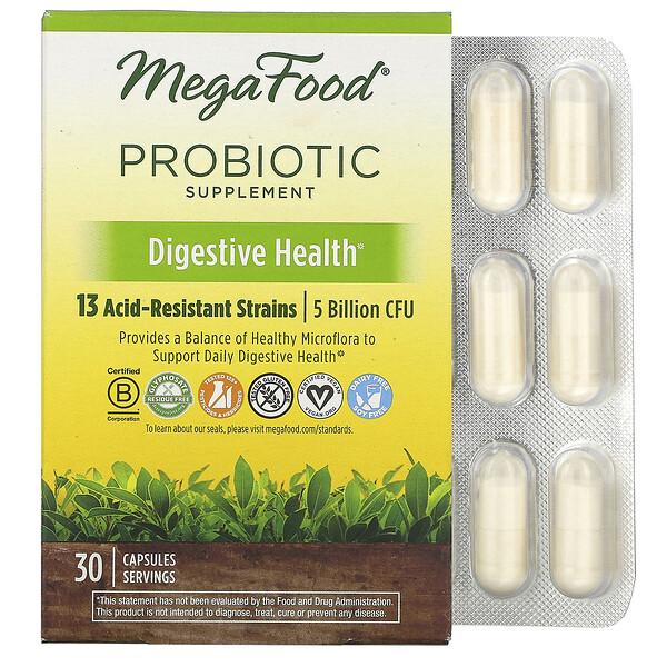 MegaFood, Complément probiotique, Santé digestive, 30 capsules (Discontinued Item)