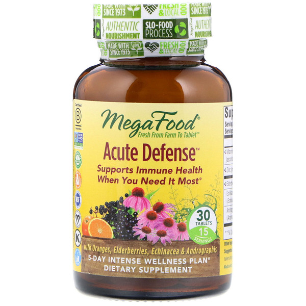 MegaFood, Acute Defense, 30 Tablets