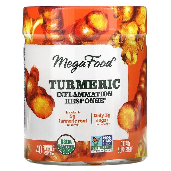 Turmeric, Inflammation Response, 40 Gummies