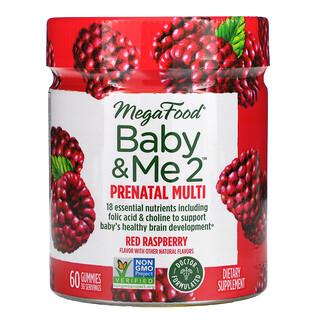 MegaFood, Baby & Me 2, Prenatal Multivitamin, Red Raspberry, 60 Gummies