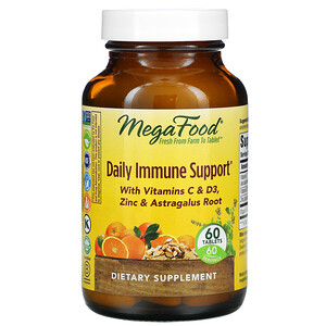 MegaFood, Daily Immune Support , 60 Tablets