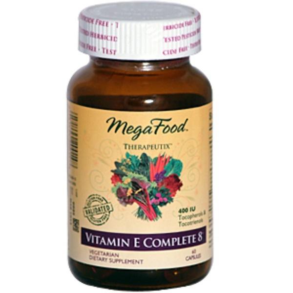 MegaFood, Therapeutix, Vitamin E Complete 8, 400 IU, 60 Capsules (Discontinued Item)