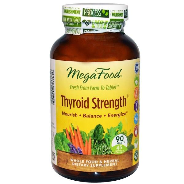 MegaFood, Thyroid Strength, 90 Tablets