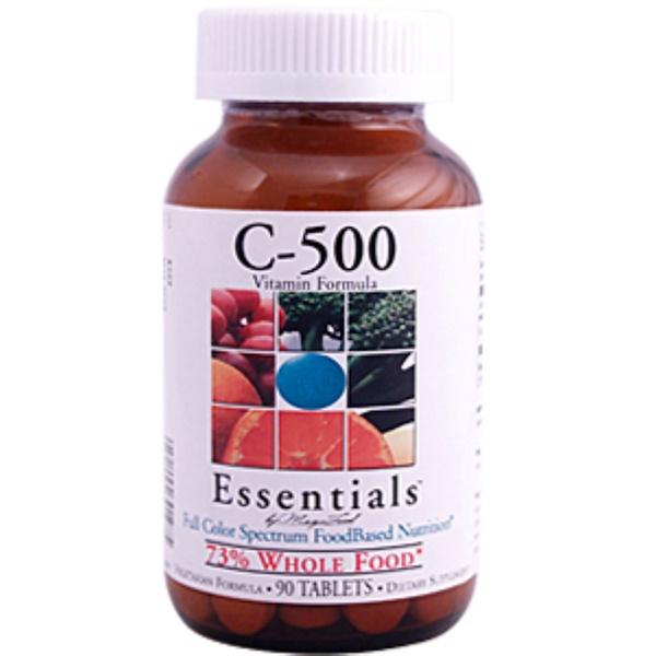 MegaFood, Essentials, C-500, 90 Tablets (Discontinued Item)
