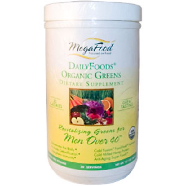 MegaFood, DailyFoods, Organic Greens, Revitalizing Greens for Men Over 40, 12.7 oz (360 g) (Discontinued Item)