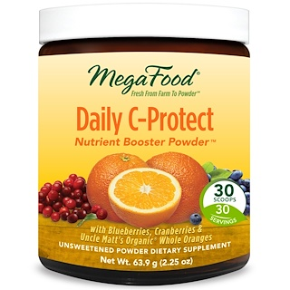 MegaFood, Daily C-Protect Nutrient Booster Powder, 2.25 oz (63.9 g)