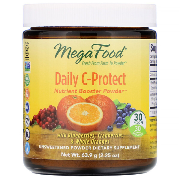 Daily C-Protect, Nutrient Booster Powder, Unsweetened, 2.25 oz (63.9 g)