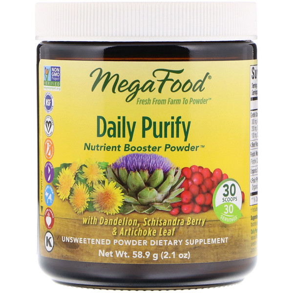 Daily Purify, Nutrient Booster Powder, Unsweetened, 2.1 oz (58.9 g)