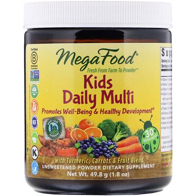 Купить MegaFood добавка с мультивитаминами и микроэлементами для детей, порошок, без сахара, 49, 8 г (1, 8 унции)