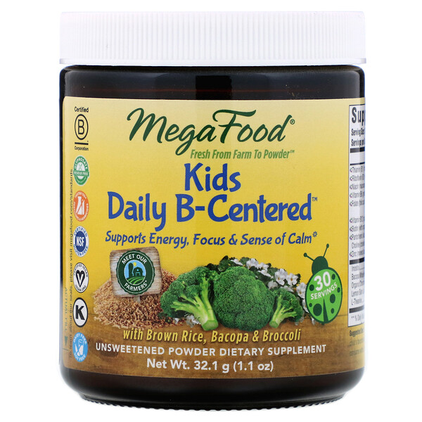 MegaFood, Kids Daily B-Centered, 1.1 oz (32.1 g) (Discontinued Item)