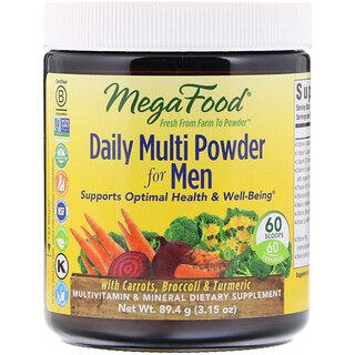 MegaFood, Daily Multi Powder for Men, 3.15 oz (89.4 g)
