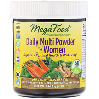 MegaFood, Daily Multi Powder for Women, 4.38 oz (124.2 g)