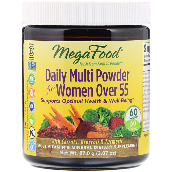 MegaFood, Daily Multi Powder for Women Over 55, 3.07 oz (87.0 g)
