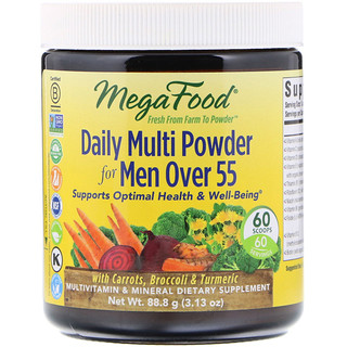 MegaFood, Daily Multi Powder for Men Over 55, 3.13 oz (88.8 g)
