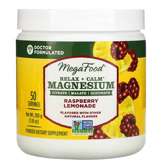 MegaFood, Relax + Calm Magnesium, Raspberry Lemonade, 7.05 oz (200 g)
