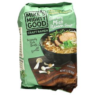 Mike's Mighty Good, Craft Ramen, Savory Miso Ramen Soup, 2.1 oz (61 g)