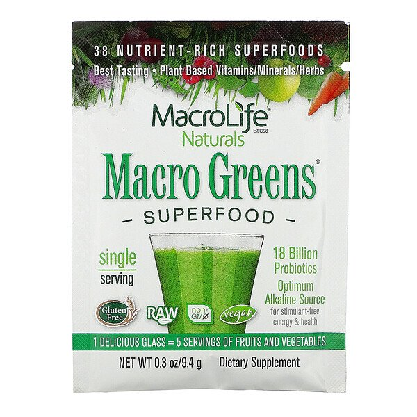 Macro Greens, Superfood, 0.3 oz (9.4 g)