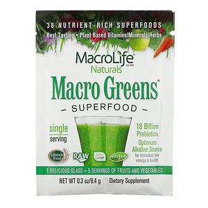 Макролифе Натуралс, Macro Greens, Superfood, 0.3 oz (9.4 g) отзывы