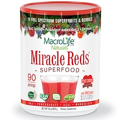 Macrolife Naturals, Miracle Reds, Superfood, Goji- Pomegranate- Acai- Mangosteen, 30 oz (850 g)