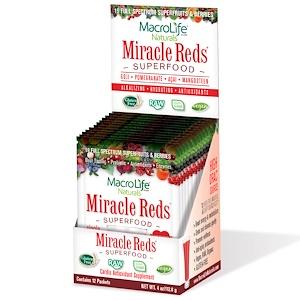 Макролифе Натуралс, Miracle Reds, Cardio Antioxidant Supplement, 12 Packets, 4 oz (112.8 g) отзывы