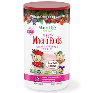 Macrolife Naturals, Macro Berri Reds, Berri Superfood For Kids, Fruits & Berries, 3.3 oz (95 g)