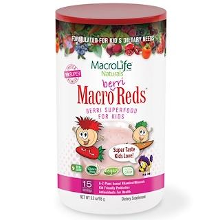 Macrolife Naturals, Macro Berri Reds, Berri Superfood For Kids, Fruits & Berries, 3.3 oz (95 g)