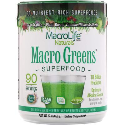 Суперпродукт Macro Greens, 850 г (30 унций)