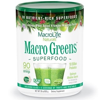 Macrolife Naturals, Macro Greens, Superfood, 30 oz (850 g)