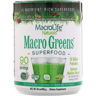 Macrolife Naturals, Macro Greens, Superfood (Super Alimento), 30 oz (850 g)