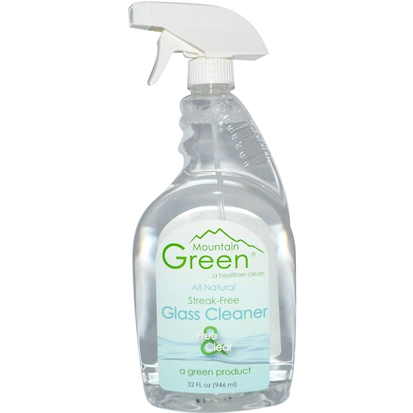 Mountain Green, Glass Cleaner, 32 fl oz (946 ml) (Discontinued Item)