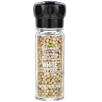 Купить McCormick Gourmet Global Selects White Pepper From Malaysia, 1.69 oz (47 g)