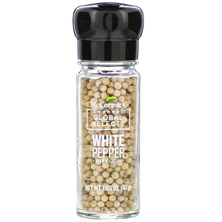 McCormick Gourmet Global Selects, White Pepper From Malaysia, 1.69 oz (47 g)
