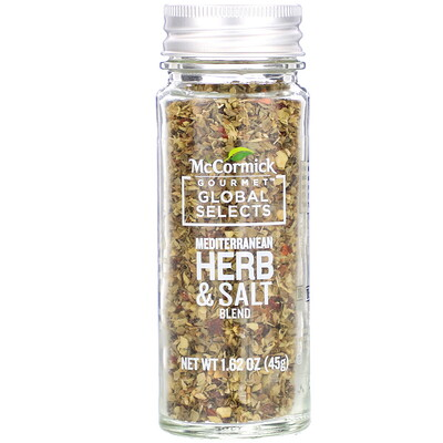 Купить McCormick Gourmet Global Selects Mediterranean Herb & Salt Blend, 1.62 oz (45 g)