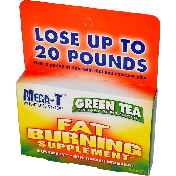 Mega-T, Green Tea, Fat Burning Supplement, 30 Caplets (Discontinued Item)
