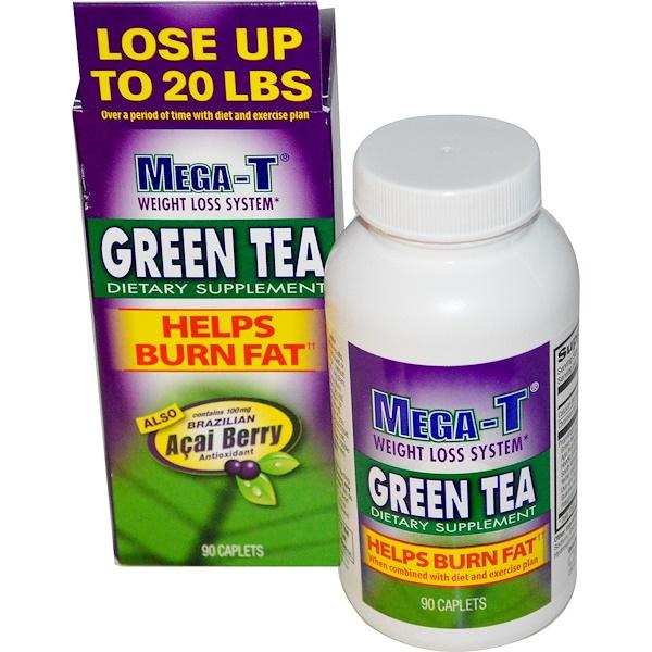 Mega-T, Green Tea, Weight Loss System, 90 Caplets (Discontinued Item)