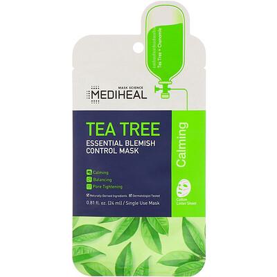 Купить Mediheal Tea Tree, Essential Blemish Control Mask, 1 Sheet, 0.81 fl oz (24 ml)
