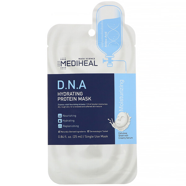 D.N.A Hydrating Protein Mask, 1 Sheet, 0.84 fl oz (25 ml)